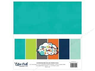scrapbooking & paper crafts: Echo Park Imagine That Boy Paper Pack 12 in. x 12 in. Solid