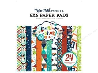 scrapbooking & paper crafts: Echo Park Imagine That Boy Paper Pad 6 in. x 6 in.