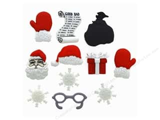 scrapbooking & paper crafts: Jesse James Dress It Up Embellishments Waiting for Santa