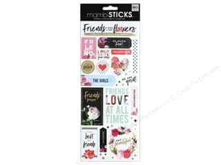 scrapbooking & paper crafts: Me&My Big Ideas Sticker Sticks Specialty Friends Are Like Flowers