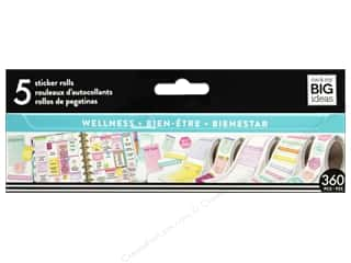 scrapbooking & paper crafts: Me&My Big Ideas Collection Create 365 Happy Planner Sticker Roll Wellness