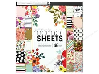 Me & My Big Ideas Sheets 12 x 12 in. Cardstock Pad Botanicals