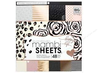 scrapbooking & paper crafts: Me & My Big Ideas Sheets 12 x 12 in. Cardstock Pad Black, White & Rose