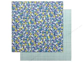 scrapbooking & paper crafts: American Crafts Dear Lizzy Stay Colorful 12 in. x 12 in. Bell Bottom Blue (25 pieces)
