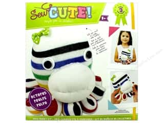novelties: Colorbok Kit Sew Cute Kit Sock Buddy Octopus