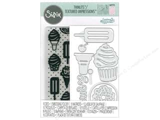 die cuts: Sizzix Die & Emboss Folder Courtney Chilson Thinlits With Textured Impressions Sweet Treats