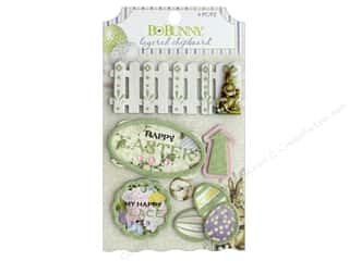 Bo Bunny Collection Cottontail Layered Chipboard