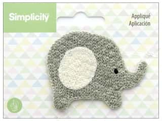 Simplicity Applique Sew On Elephant
