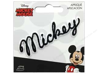 Simplicity Applique Disney Iron On Mickey Script