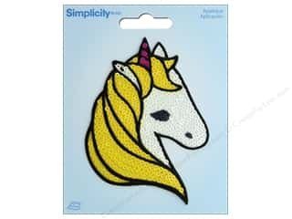 Simplicity Applique Iron On Sequin Unicorn