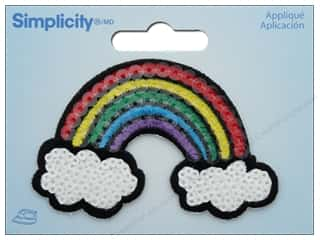 Simplicity Applique Iron On Sequin Rainbow