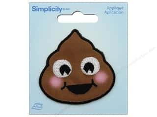 Simplicity Applique Iron On Emoji Pile Of Poo