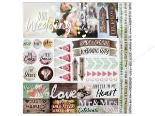 stickers: Reminisce Modern Wedding Sticker 12 in. x 12 in.