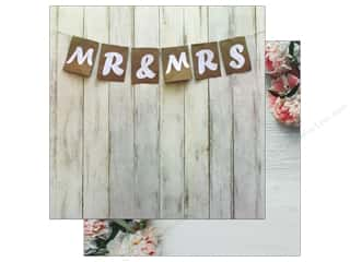 Reminisce Modern Wedding Paper 12 in. x 12 in. Mr And Mrs (25 pieces)