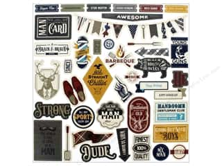 scrapbooking & paper crafts: Photo Play Collection Man Card Sticker Element 12 in. x 12 in. (12 pieces)