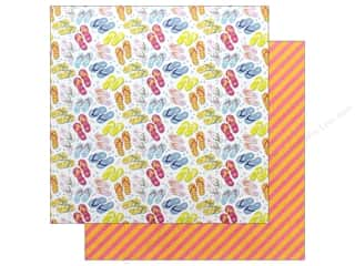Photo Play 12 x 12 in. Paper Those Summer Days Flip Flop (25 pieces)