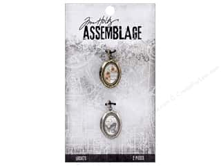 beading & jewelry making supplies: Tim Holtz Assemblage Locket Domed Oval