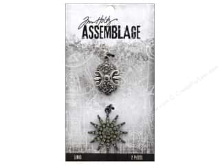 beading & jewelry making supplies: Tim Holtz Assemblage Charms Sunburst/Emblem