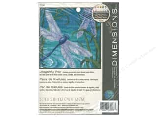 yarn & needlework: Dimensions Needlepoint Kit 5 in. x 5 in. Dragonfly Pair