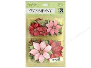 stickers: K&Company Layered Accents Susan Winget Glad Tidings Poinsettia