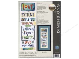 yarn & needlework: Dimensions Cross Stitch Kit 6 in. x 18 in. Love Is