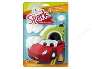 Colorbok Spark Plaster Magnets Kit - Cars