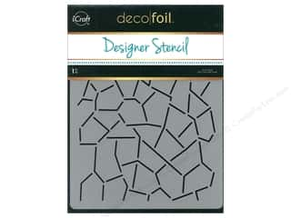 Crackle Medium: iCraft Deco Foil Designer Stencil 6 in. x 8 in. Crackle