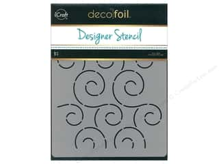 craft & hobbies: iCraft Deco Foil Designer Stencil 6 in. x 8 in. Swirls
