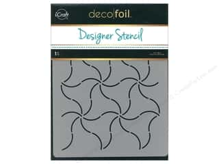craft & hobbies: iCraft Deco Foil Designer Stencil 6 in. x 8 in. Pinwheels