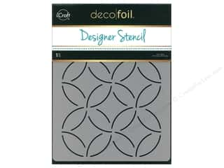 craft & hobbies: iCraft Deco Foil Designer Stencil 6 in. x 8 in. Abstract Circles