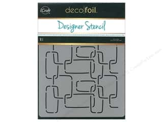 craft & hobbies: iCraft Deco Foil Designer Stencil 6 in. x 8 in. Modern Links