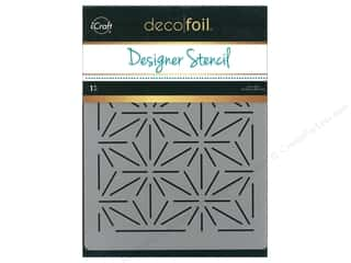 craft & hobbies: iCraft Deco Foil Designer Stencil 6 in. x 8 in. Starburst