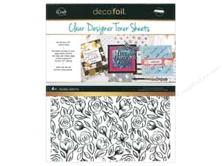 iCraft Deco Foil Toner Sheet Designer Clear Floral Sketch 4 pc
