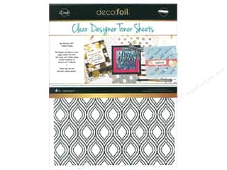 glues, adhesives & tapes: iCraft Deco Foil Clear Designer Toner Sheets 4 pc. Groovy
