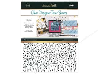 glues, adhesives & tapes: iCraft Deco Foil Toner Sheet Designer Clear Branching Out 4 pc