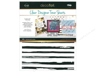 glues, adhesives & tapes: iCraft Deco Foil Toner Sheet Designer Clear Distressed Line 4 pc