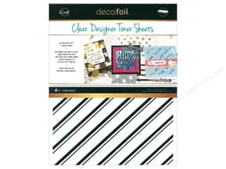 glues, adhesives & tapes: iCraft Deco Foil Clear Designer Toner Sheets 4 pc. Pinstripe