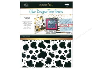 glues, adhesives & tapes: iCraft Deco Foil Clear Designer Toner Sheets 4 pc. Splatter