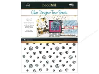 glues, adhesives & tapes: iCraft Deco Foil Toner Sheet Designer Clear Doodle 4 pc