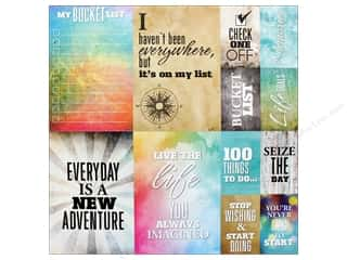 Reminisce Collection Bucket List Sticker 12 in. x 12 in. Poster