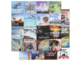 Reminisce Collection Bucket List Paper 12 in. x 12 in. Bucket List (25 pieces)