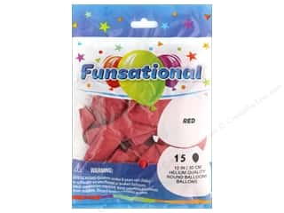 Pioneer Funsational Balloons 12 in. 12 pc. Red