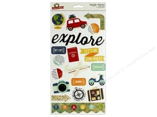 scrapbooking & paper crafts: Simple Stories Collection Travel Notes Chipboard 6 in. x 12 in.