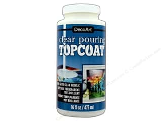 DecoArt Pouring Medium: DecoArt Clear Pouring Topcoat 16 oz.