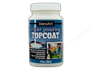 DecoArt Pouring Medium: DecoArt Clear Pouring Topcoat 8 oz.