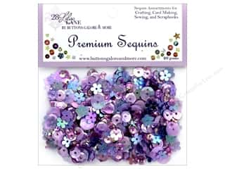 craft & hobbies: Buttons Galore 28 Lilac Lane Premium Sequins Lilac
