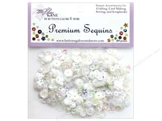 craft & hobbies: Buttons Galore 28 Lilac Lane Premium Sequins Marshmallow