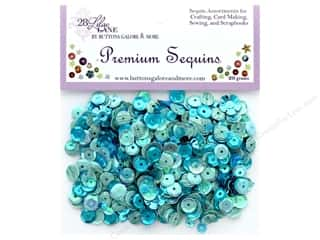 craft & hobbies: Buttons Galore 28 Lilac Lane Premium Sequins Turquoise
