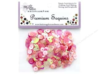 Buttons Galore 28 Lilac Lane Premium Sequins Blush