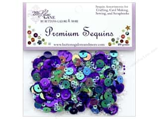 Buttons Galore 28 Lilac Lane Premium Sequins Grape